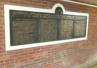 Derby Stn MR Boer War  Memorial AJS
