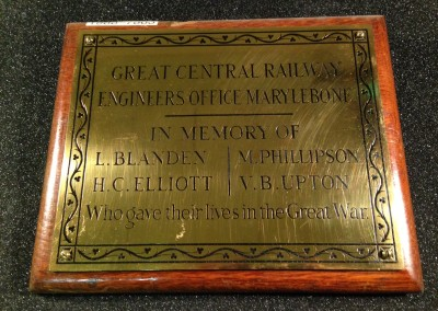 GCR Marylebone Engineers Memorial at NRM