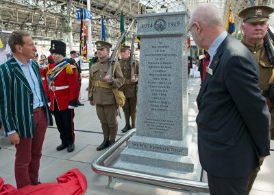Manchester Piccadilly 040516 Memorial Unveiling