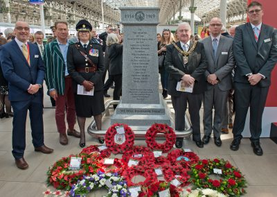 Manchester Piccadilly World War 1 memorial unveiling