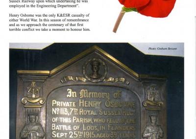 Salehurst memorial K&ESR